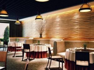 Dekorácia steny v kaviarni