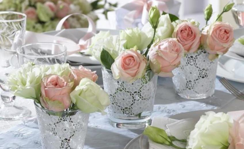 Украсить стол своими руками цветы 727