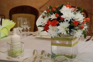 цветы в ресторане